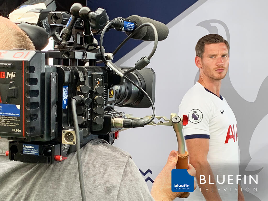 Bluefin Television filming the new season promo's with Spurs players