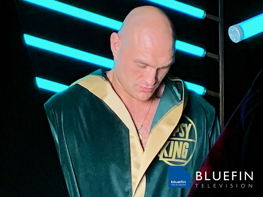 Bluefin Television Shooting Tyson Fury for a BT Sport Promo